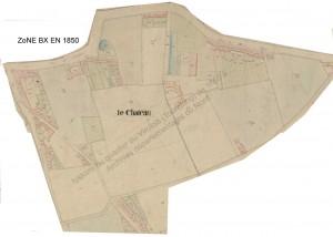 zone BX en 1850