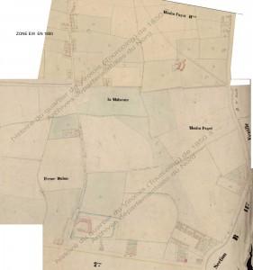 zone EW  en 1850
