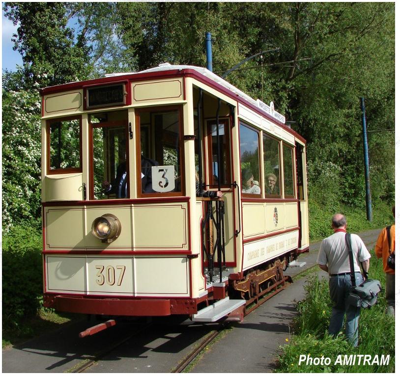 1906 - Motrice n° 307 - AMITRAM - Tramway Touristique de la Vallée de la Deûle