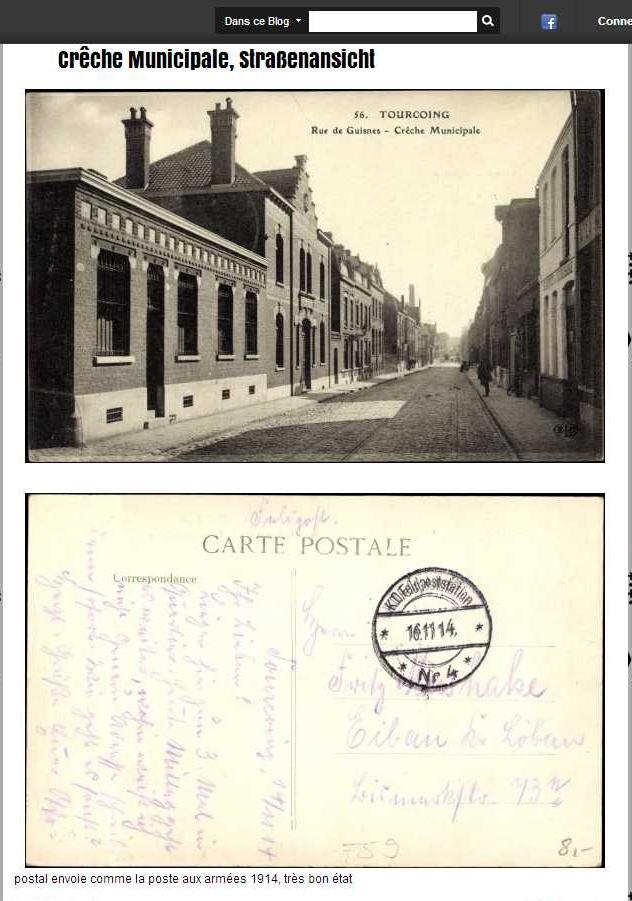 Ancienne Carte postale Tourcoing Nord, Rue de Guisnes