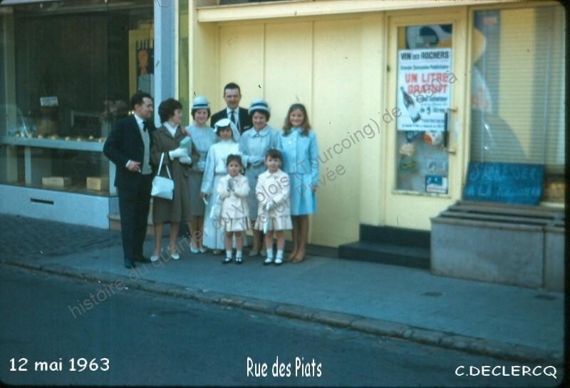 Poissonnerie Leconte-Epicerie Declercq 12-5-63 rue des Piats