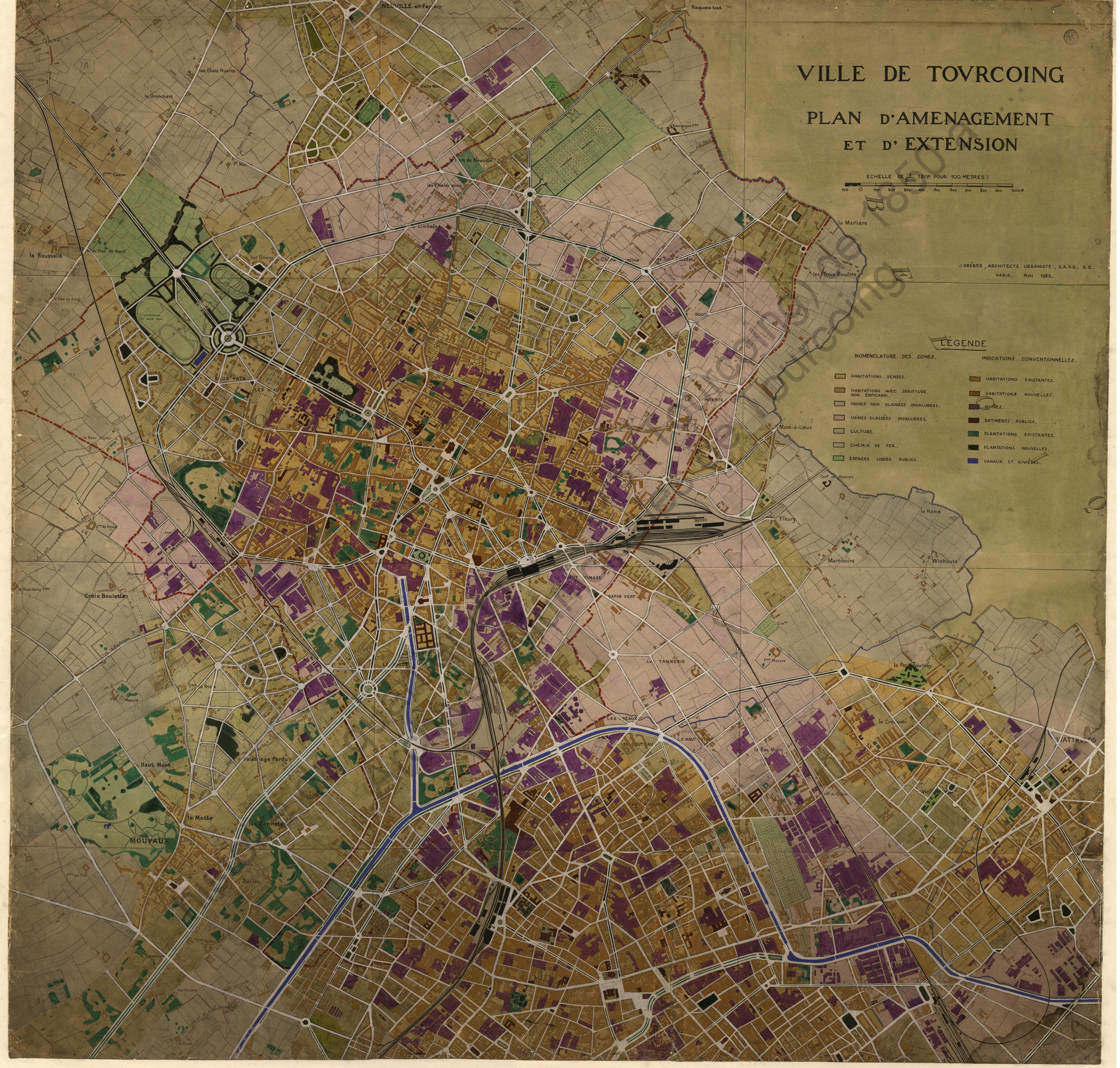 Tourcoing en 1922
