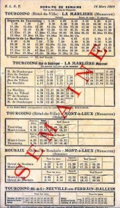 horaire tramway