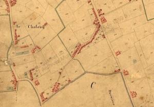 la rue de  renaix en 1827 - Copie