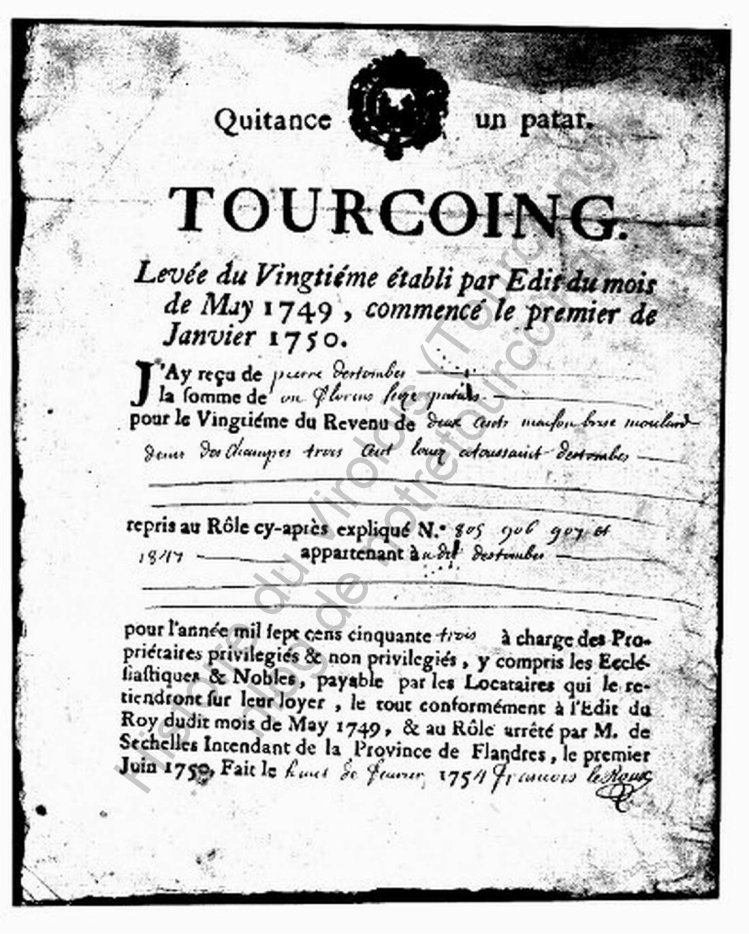 quiitance 1749