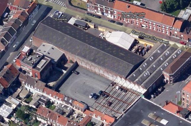 usine angle rue de l'Epinet et Winoc Chocqueel