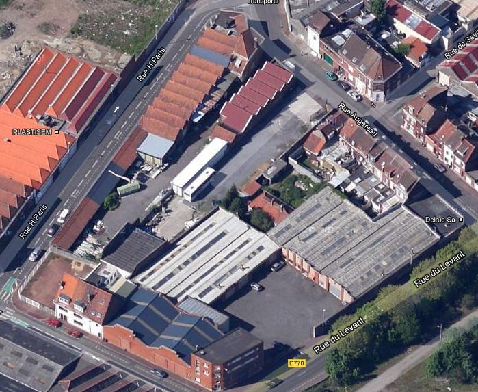 usine angle rue du levant et rue de St omer