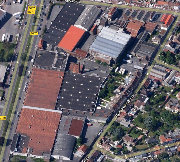 usine angle rue du virolois et chaussée Marcelin Berthelot