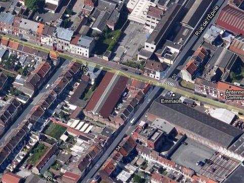 usine prés de l'angle rue de lEpine et  Winoc Choqueel