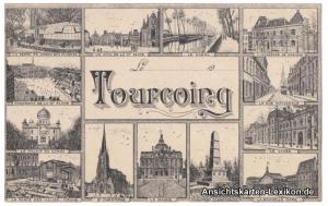 Tourcoing Toerkonje Mehrbild Ansichtskarte b Lille Nord.1917..