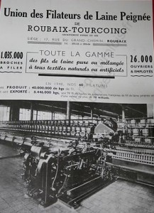 Pub Ad 1950 Union filature laine ROUBAIX TOURCOING Usin... copie
