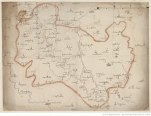carte de 1600 entre Tourcoing et