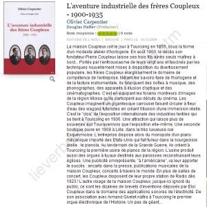 L'aventure industrielle des frères Coupleux -.... Olivier Carpentier - Decitre - 5552001988016 - Livre