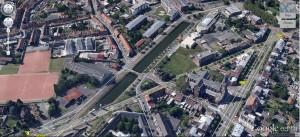 vue aérienne du port de tourcoing