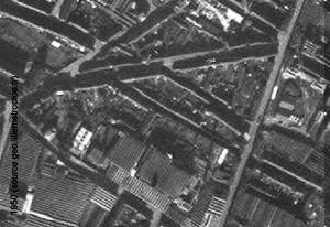 angle rue des piats et croix rouge 1950