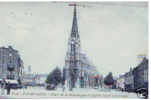 eBay - CPA Nord Tourcoing L'Eglise Saint Christophe (p84039)