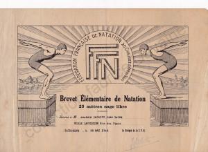 brevet de natation ecole lavoisier 1949 (col fd)