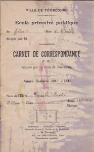 carnet correspondance école des filles 1947 (2) (col FD)