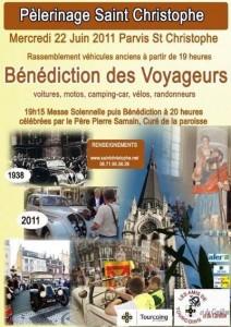 Bénédiction des voitures Saint Christophe Tourcoing 59200, Affiche de l'édition 2011
