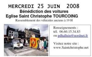 Bénédiction des voitures Saint Christophe Tourcoing 59200 Flye