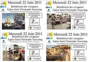 Bénédiction des voitures Saint Christophe Tourcoing 59200 Flyer de l'édition 2011