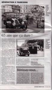 Bénédiction des voitures Saint Christophe Tourcoing 59200 La Vie de l Auto 13 octobre 2005  65 ans que ça dure!