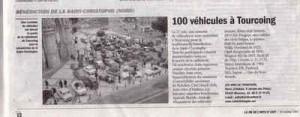 Bénédiction des voitures Saint Christophe Tourcoing 59200 La Vie de lAuto 19 octobre 2007  Plus de 100 véhicules à Tourcoing
