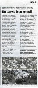 Bénédiction des voitures Saint Christophe Tourcoing 59200, La Vie de l'Auto du 02 octobre 2008
