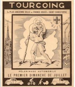 Bénédiction des voitures Saint Christophe Tourcoing 59200 La plus ancienne ville de France vouée à Saint-Christophe