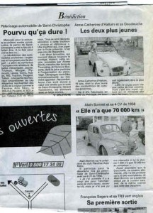Bénédiction des voitures Saint Christophe Tourcoing 59200 La voix du Nord 23 juin 1999  portraits croisés