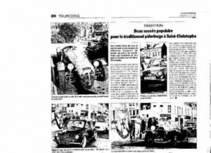 Bénédiction des voitures Saint Christophe Tourcoing 59200, La voix du Nord 27 juin 2009