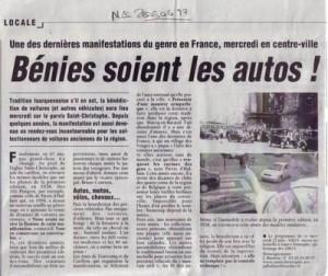 Bénédiction des voitures Saint Christophe Tourcoing 59200 Nord Eclair 17 juin 2005