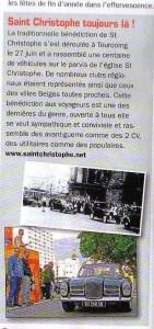 Bénédiction des voitures Saint Christophe Tourcoing 59200, Rétro Passion 19 octobre 2007  Saint Christophe toujours là !