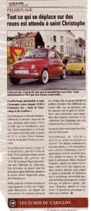 Bénédiction des voitures Saint Christophe Tourcoing 59200, Voix du Nord du 16 juin 2010