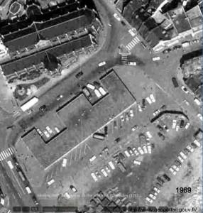 batiment au dessus des halles en 1969
