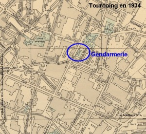 Emplacement de la Gendarmerie en 1934